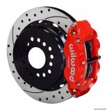 "Wilwood 14"" SuperLite 4R Rear w/Parking Brake/Drilled/Slotted/Red"