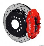 "Wilwood 13"" SuperLite 4R Rear w/Parking Brake/Drilled/Slotted/Red"
