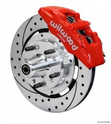 "Wilwood 12.19"" 6-piston DynaPro Kit Drilled/Slotted/Red"