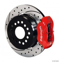 "Wilwood 12.19"" 4-piston Rear w/Parking Brake/Drilled/Slotted/Red"